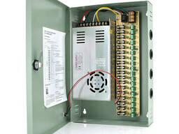Импульсный блок питания 12V-30A/18CH в боксе с замком перфорированный, 18-ти канальный. ..