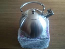Индукционный чайник 2.5 л. со свистком экологичный - подарок
