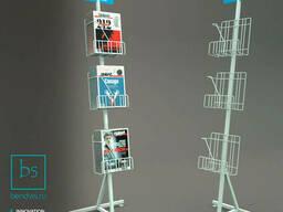 Информационные  стойки для газет и печатной продукции.