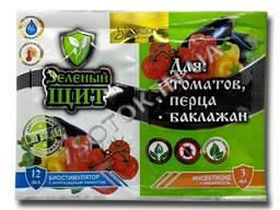 Инсектицид с биостимулятором «Зеленый щит для томатов, перца и баклажан» 12 мл 3 мл, ори