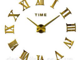 Интерьерные настенные часы, 3D часы на стену , с Римскими. ..