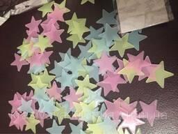 Интерьерные звездочки на стену, светящиеся в темноте (004)