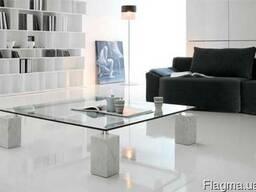 Итальянская мебель из стекла и стеклянные изделия: столы