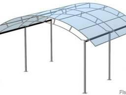 Изготовим автонавес, металлический навес из поликарбоната