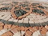 Изготовим декоративное напольное панно из плитки мрамора - фото 1