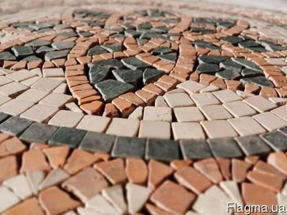 Изготовим декоративное напольное панно из плитки мрамора