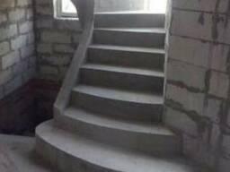 Изготовление бетонных лестниц, бетонные лестницы, цена