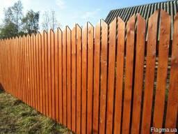 Изготовление деревянных заборов. Штахетник