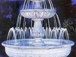 Изготовление фонтанов из мрамора, травертина, гранита
