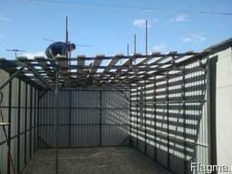Изготовление гаражей из металлопрофиля