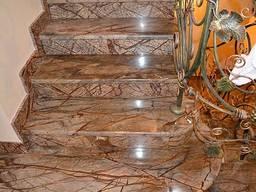 Изготовление лестниц из натурального камня в Одессе