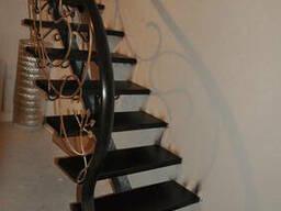 Изготовление лестниц на металлическом каркасе.