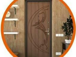 Обшивка металлических входных дверей МДФ накладками