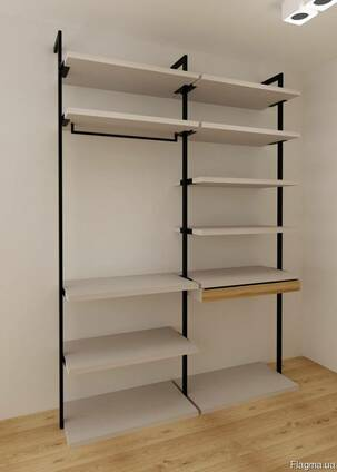 Модульная гардеробная система, гардеробная комната