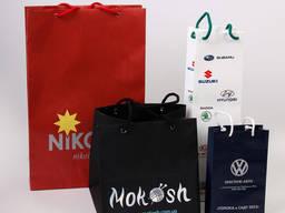 Изготовление пакетов, крафт-пакетов нанесение логотипа.