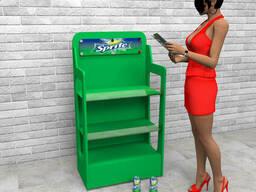 Изготовление  рекламных стоек для напитков Sprite