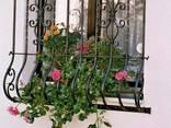 Решетки на окна с художественой ковкой - фото 5