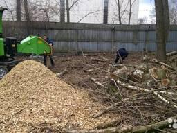 Аренда измельчителя веток Услуги дробление веток древесных отходов