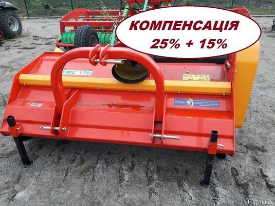 Измельчитель УМС 170 растительных остатков соломы в валках