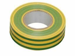 Изолента 0, 18х19 мм желто-зеленая 20 метров ИЭК (IEK)