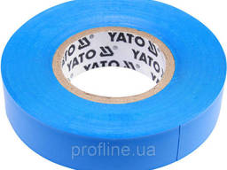 Изолента ПВХ 15х20 мм голубая YATO YT-81591