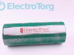 Изолента ПВХ 21 метр зеленая ElectroHouse