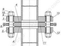 Изолирующее фланцевое соединение Ду400 Ру40