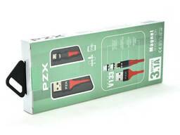 Кабель магнитный PZX V133, Micro-USB, 3.1A, Red, длина 1м, BOX
