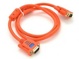 Кабель Merlion VGA 3+6 lIJIA Premium 1,5m, male to male (папа-папа), 2 феррита, Orange. ..