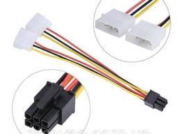 Кабель питания для видеокарты 6-pin to 2x4-pin F Molex