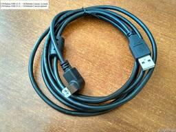 Кабель USB 2.0 A - > B Defender 2 метра угловой