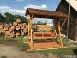 Качель деревянная - фото 2