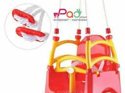Акция! Качель пластиковая подвесная для детей, гойдалка дитяча, качелька детская Doloni