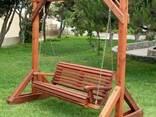 Качель садовая (дачная) из дерева - фото 7