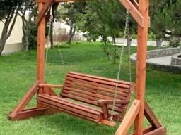 Качель садовая (дачная) из дерева - фото 6