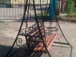 Качели садовые кованые - фото 2