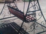Качели садовые кованые - фото 3