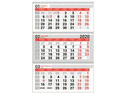 Календарная сетка красная. Квартальный, настенный. ..