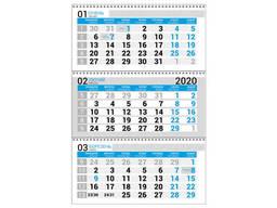 Календарная сетка синяя. Квартальный, бухгалтерский. ..