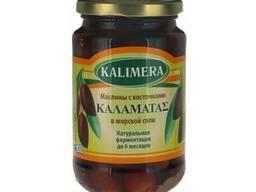 Kalimera / Калимера Каламата крупные маслины, 370 мл стекло
