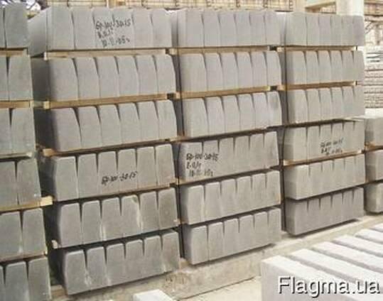 Камень бортовой БР 100х30х15 (бордюр дорожный)