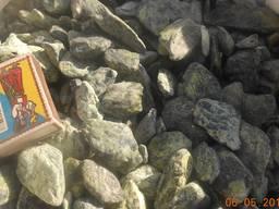"""Камень. Галька мраморная """"Греция"""" зеленая 20-40 мм"""