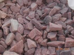 Камень Кварцит. Галька окатанная красная 20-40 мм - фото 2