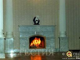 Камин из мрамора портал каминный мраморный камин - фото 7
