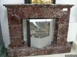Камин мраморный Rosso Levanto