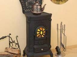 Камин печь буржуйка чугунная Bonro Black 8
