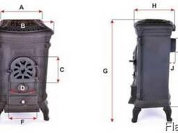 Камин печь печка буржуйка чугунная Bonro Gold 9 кВт