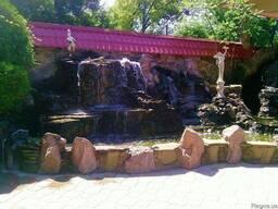 Альпийская горка заказать в Донецке Макеевке водопад фонтан