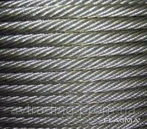 Канат стальной оцинкованный ф4,0мм, ГОСТ