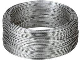 Трос стальной оцинкованный 4 ММ, длина 50 М. Трос сталевий.